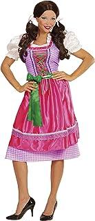 Widmann Widmann 00122 - Erwachsenenkostüm Dirndl, Kleid mit Schürze, rosa