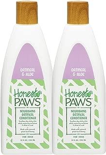 Honest Paws 天然燕麦和芦荟护发素,适合所有干燥皮肤的狗狗和小狗,舒缓狗狗护发素,2 件装