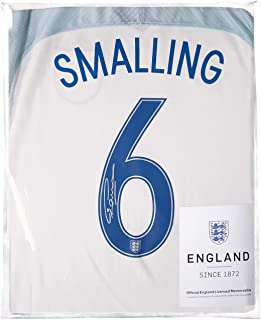 Icons.com Chris Smalling Official England Back Signed 2016-17 Home Shirt: Number 6