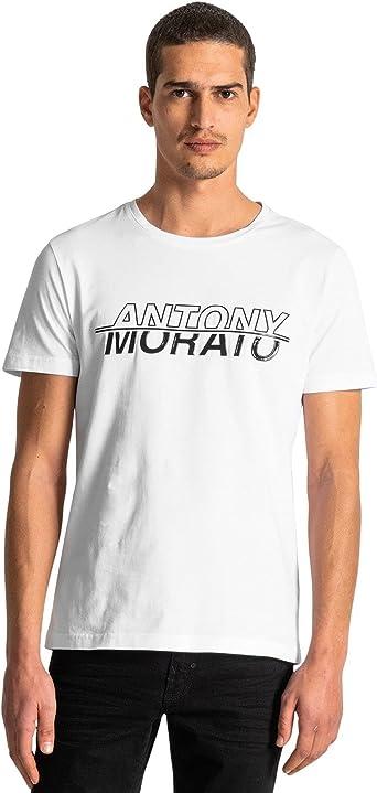 Antony Morato T-Shirt Basica Regular con Stampa Camiseta de Tirantes para Hombre