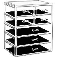 Urmoms Large Capacity Acrylic Makeup Storage Organizer Box with 7 Drawers