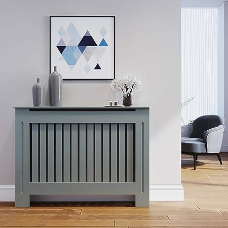 ELEGANT Radiator Covers Grey Painted Slat Vertical Grill Cabinet MEDIUM :  Amazon.co.uk: Home & Kitchen
