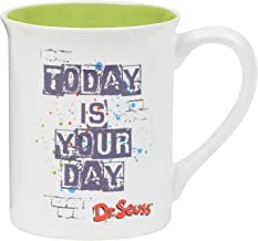 "Department 56 6002604 Dr. Seuss Cat in The Hat ""Today is Your Day Stoneware Mug 4.5 Inches Multicolor"