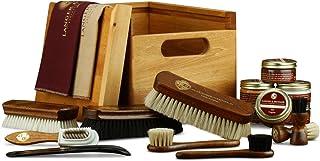 Langer & Messmer scattola in legno di tiglio massiccio FREIBURG - includi prodotti per la cura e la pulizia delle scarpe