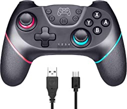 Wireless Controller for Nintendo Switch & Switch Lite Bluethtooth Nintendo Switch Pro Controllers Gamepad Joystick with Re...