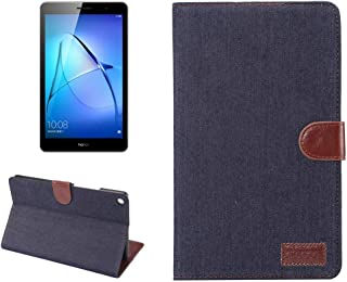 SHIHUI Phone Cases For Huawei MediaPad T3 8.0 Denim Texture Horizontal Flip Leather Case with Holder & Card Slots & Wallet & Photo Frame(Dark Blue)(Blue)(Baby Blue) (Color : Dark Blue)