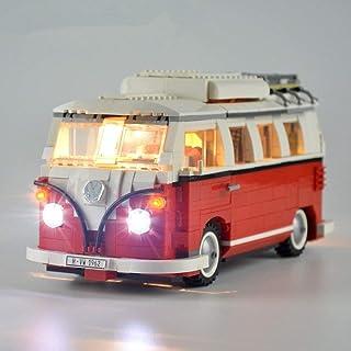 EDCAA Licht Beleuchtung Set Für Creator Volkswagen T1 Reisemobil Modell Kompatibel Mit Lego Bausteine Spielzeug (Nicht Das Modell Set)