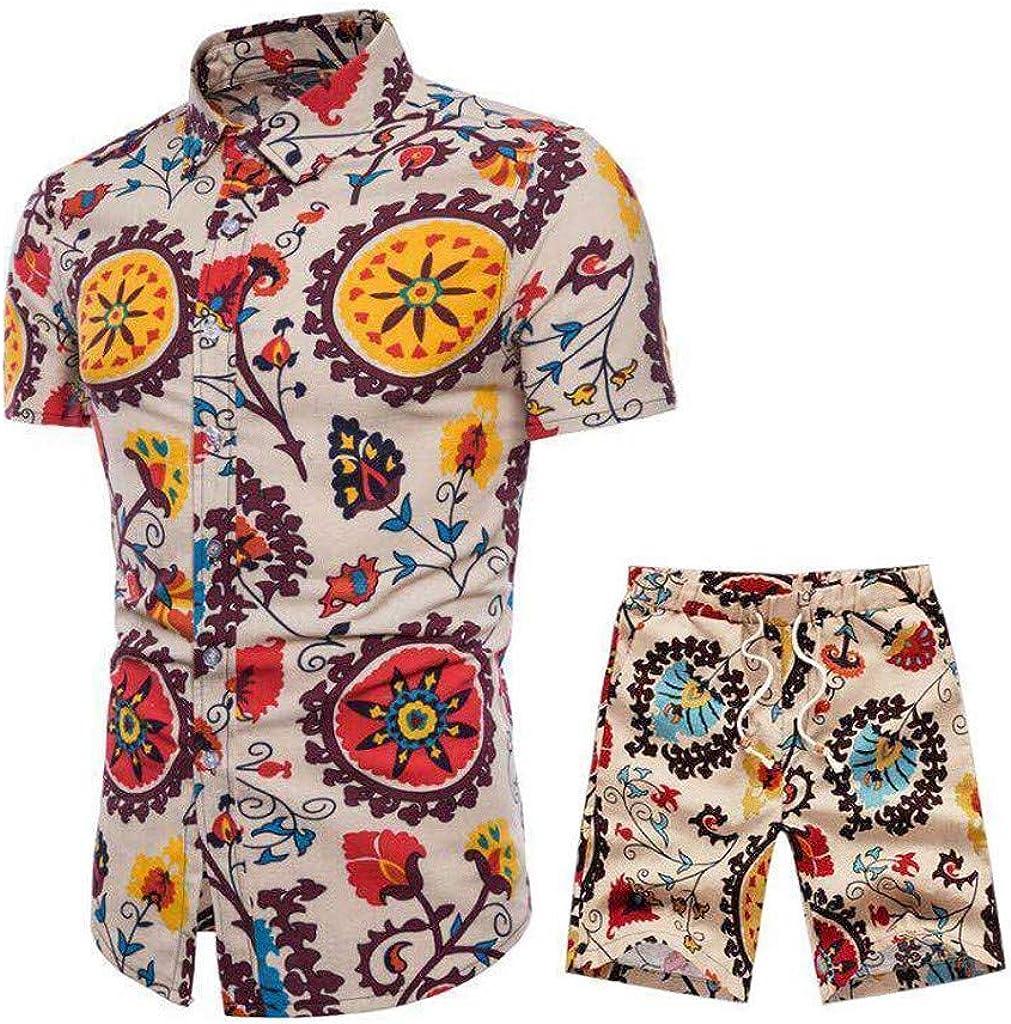 Holataa Conjunto Hombre Camisas Manga Corta + Pantalones ...