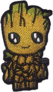 Cute Patch Baby Groot GOTG Embroidered Iron Sew On Applique 3in