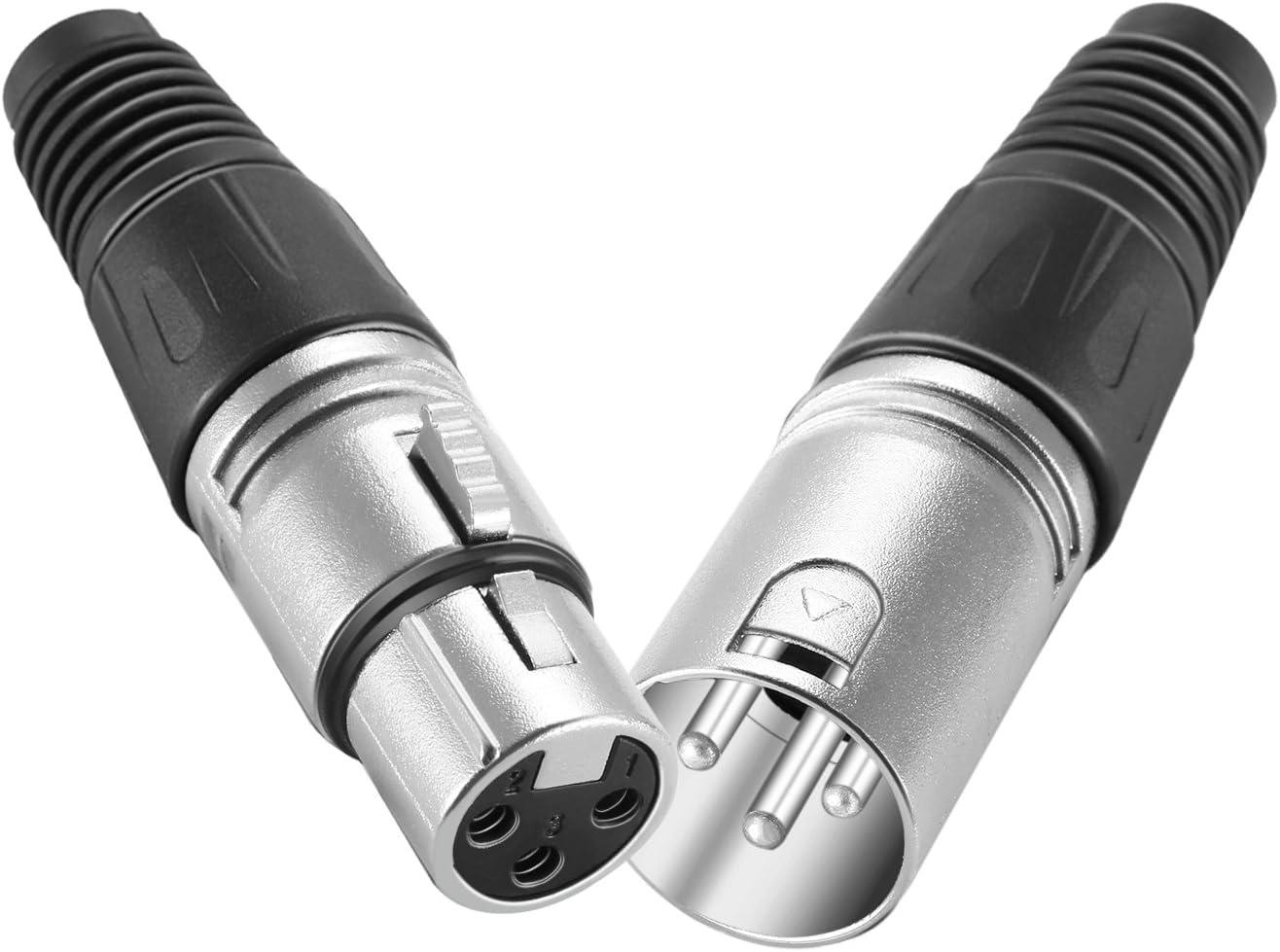 Neewer 20 Stücke 3 Pin Xlr Mic Schlange Stecker Kamera
