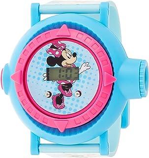 ساعة بتصميم شخصية دايزي والاصدقاء من ديزني للبنات بمينا رقمية ومصباح كاشف بضوء اسقاطي مع 10 صور اسقاطية - طراز SA8045-K ميني