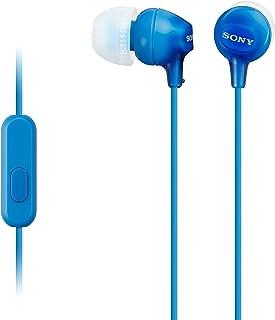 Sony Mdr-Ex15Ap - Cuffie In-Ear con Microfono, Auricolari in Silicone, Blu