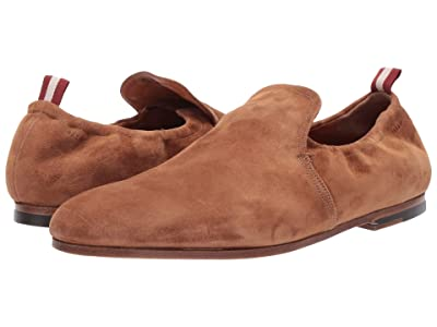 Bally Plank Collapsible Suede Loafer (Cowboy) Men