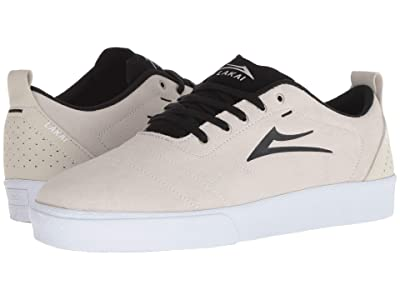 Lakai Bristol (White/Black Suede) Men