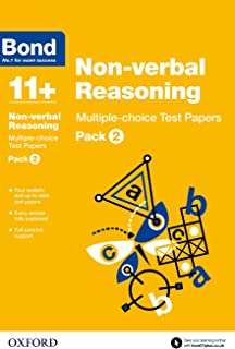 Bond 11+: Non-verbal Reasoning: Multiple-choice Test Papers: Pack 2
