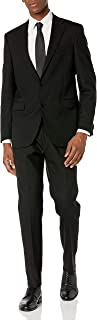 Men's Travel Ready Finished Bottom Suit, Black, 42R
