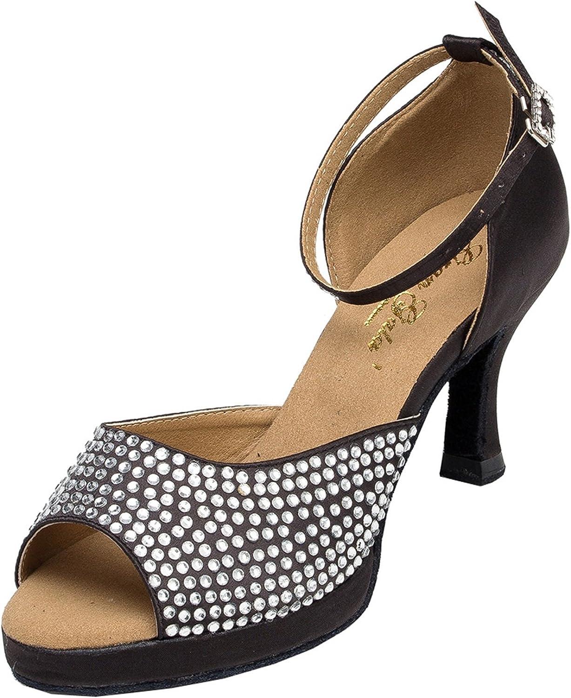 MINITOO Ladies Platform Ankle Strap Ballroom Dance Shoes Evening Dress Sandals L127