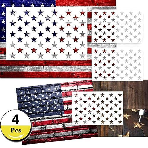 dec1f7f5f5c4 Star Stencil 50 Stars American Flag Stencils for Painting on Wood