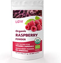 Organic Freeze dried Raspberry Powder, Made from 100% Whole Berries, Powdered Organic raspberry powder, 6 oz, Raw, Grown in Europe, no Additives, Certified Organic, non GMO, dehydrated raspberries