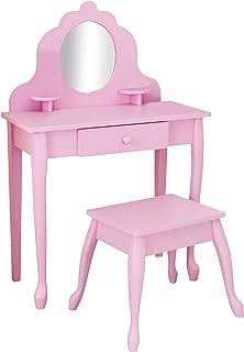 KidKraft Medium Diva Table and Stool, Pink