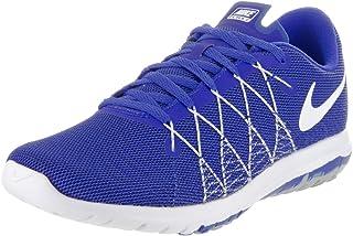 Nike Kids Flex Fury 2 (GS) Rcr Bl/White/Wlf Gry/Dp Ryl Bl Running Shoe 4.5 Kids US