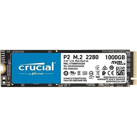 Crucial SSD P2シリーズ 1TB M.2 NVMe接続 正規代理店保証品 CT1000P2SSD8JP 5年保証