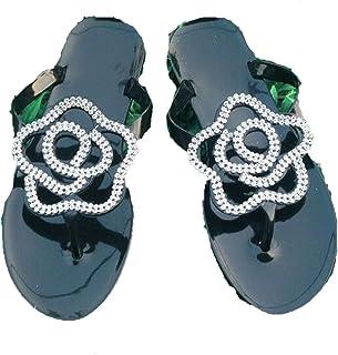 606d0c9629d565 Good-memories Fashion Women Slippers Crystal Flip Flops Sandals Beach Slip  On Slides Soft Home