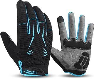 I Kua Fly Mountain Bike Gloves Men Full Finger Cycling Gloves Padded MTB Bicycle Gloves