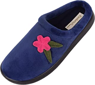 ABSOLUTE FOOTWEAR Womens Slip On Slippers/Mules/Indoor Shoes with Warm Polar Fleece Inners