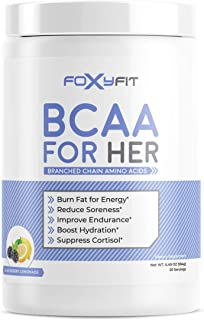 FoxyFit BCAA for Her | Branched Chain Amino Acids for Women to Boost Hydration and Reduce Soreness, BlackBe...