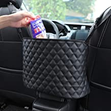 Trucks LUOSFUH Multi Function Car Net Pocket Premium PU Leather Handbag Holder Car Bag Storage Organizer Between Front Seats Pets Dog Kids Barrier Disturb Stopper for SUVs Cars