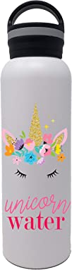25 oz. Vacuum Insulated Stainless Steel Water Bottle - Flask Style Bottles with Cute Kids Printed Designs - Double Wall, Leak