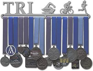 Allied Medal Hangers Triathlon Figures - Male or Female Figures - Multiple Medal Holder Display Rack