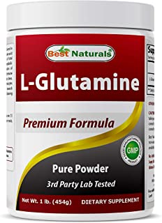 Best Naturals L-Glutamine Powder - 1 Pound - 100% Pure and Free Form - Glutamine Recovery Powder - Clinically Proven Recov...