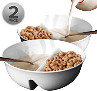 cereal bowl with milk compartment