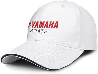 Women Young Men Baseball Cap Cute Sparkle Yamaha-Boat-Logo- Adjustable Sandwich Baseball Cap Sun Hat