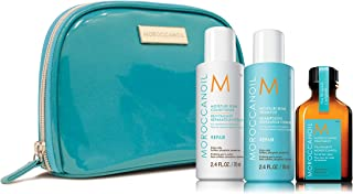 Moroccanoil Moisture Repair Travel Kit (Contains- Moroccanoil Moisture Repair Shampoo & Conditioner, 70ml each, Moroccanoil Treatment Oil, 25ml)