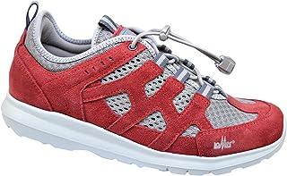 LOMER GOLFO, Sneaker Bassa, Tomaia in Pelle Scamosciata, Suola Vibram VI-Lite, Stringhe Elastiche, Unisex