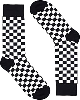 Men's Checkered Dress Socks - Saint Yuma - Premium Cotton
