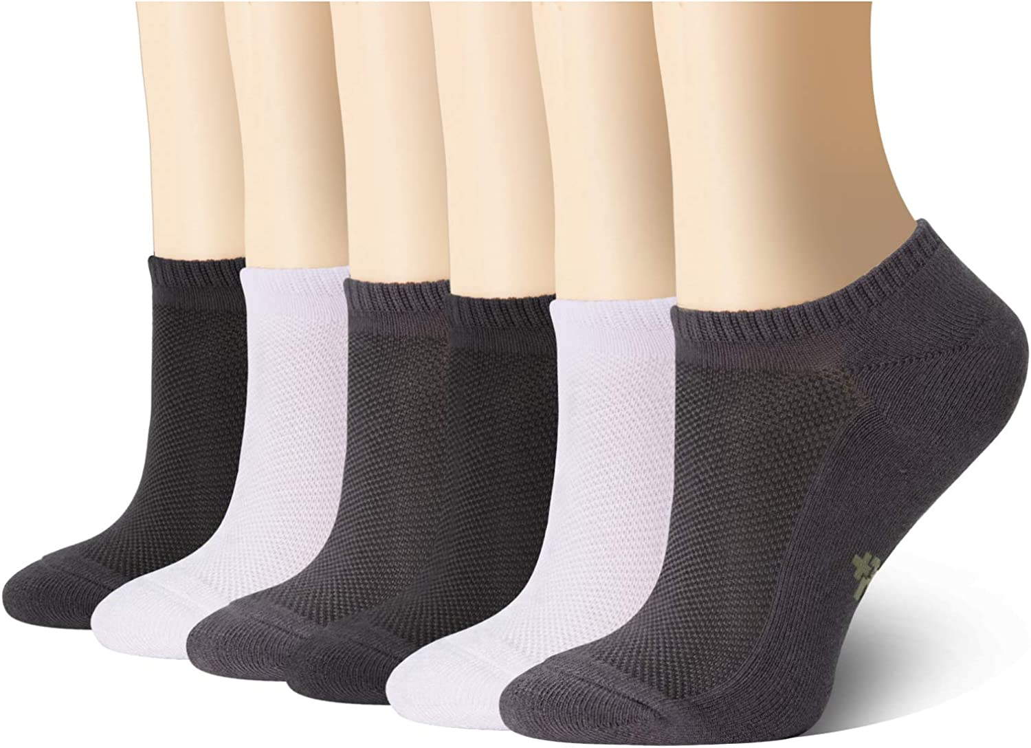 +MD Ultra Soft Athletic Bamboo Socks for Women and Men with Cushioned Sole No Show Casual Socks