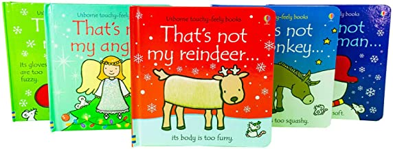 Thats Not My Touchy-Feely 5 Board Books Set Christmas Collection Elf, Snowman, Angel, Reindeer and Donkey