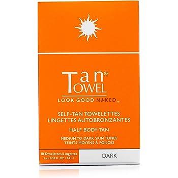 Tan Towel Half Body Tan Dark, 0.25 fl. oz.