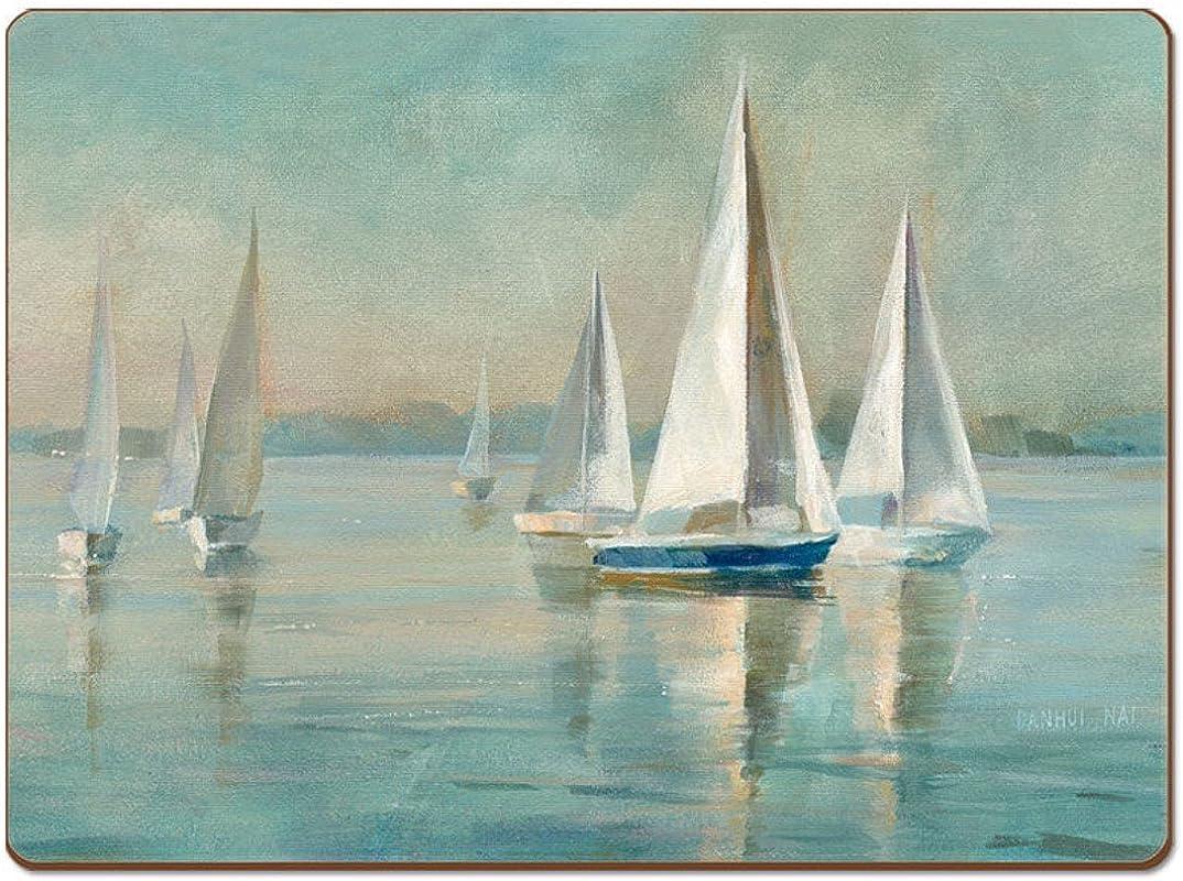 Cala Home 4 Premium Hardboard Placemats Table Mats Sailing At Sunrise