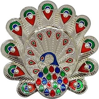 Aditri Creation Diwali Karwa Chauth Special Decorative Puja/Pooja Thali/Platter for Temple Rituals, Mandir Temple Accessory Diwali Gift,Pujan, Deepawali Decoration.Indian Gift Items
