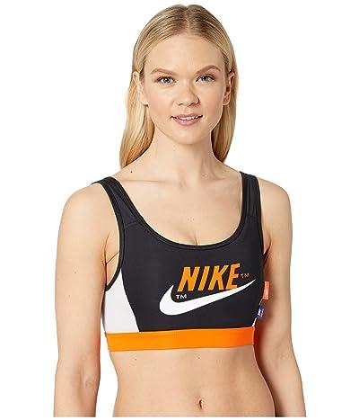 Nike Medium Pad Icon Clash Bra (Black/Safety Orange/Vast Grey/White) Women