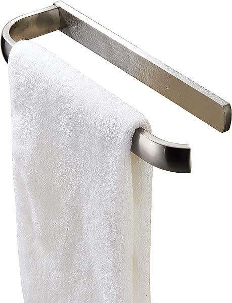 ROZIN 壁挂式浴巾衣架单个毛巾杆拉丝镍