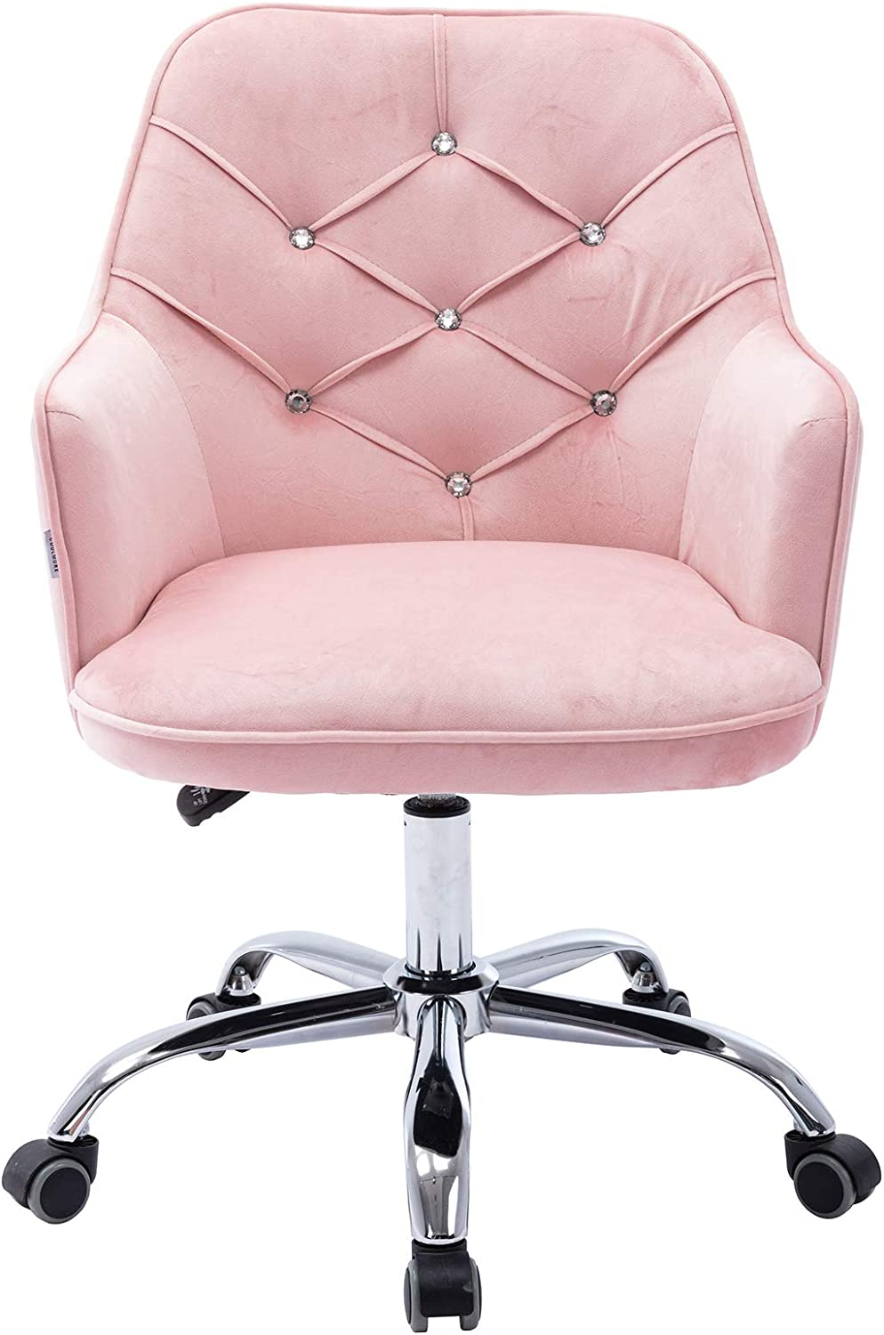 Goujxcy Home Office Chair New Shipping Free Shipping Velvet Deluxe Desk Metal with Mode Base