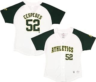 Yoenis Cespedes Oakland Athletics #52 White Youth Player Fashion Jersey