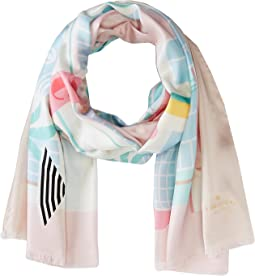 Kate Spade New York - Deco Hotel Oblong Scarf