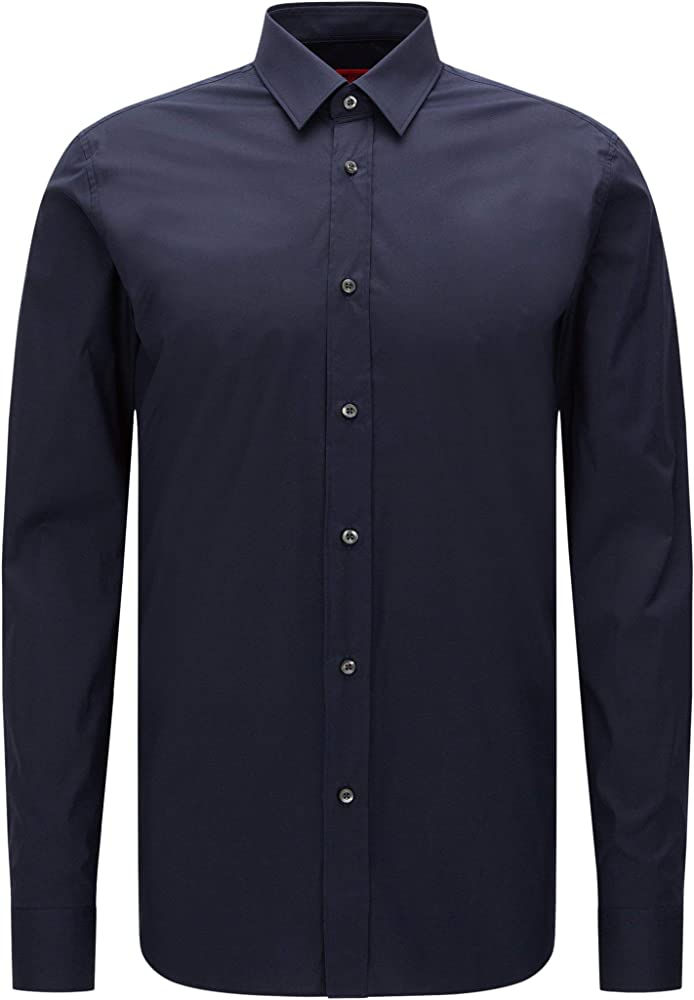 Hugo boss, camicia casual per uomo, 95% cotone, 5% elastan 50237804B